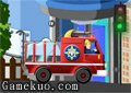 十萬火急消防車滅火
