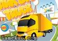 巨型大卡拖車停車