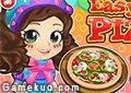 美女做披薩