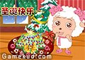 美羊羊做聖誕節蛋糕