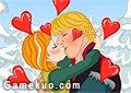 冰雪奇緣安娜接吻