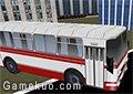 3D城市巴士停靠