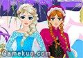 冰雪奇緣姐妹裝扮