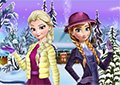艾莎和安娜的冬裝