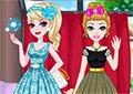 冰雪姐妹參加婚宴