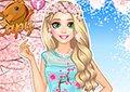 長髮公主櫻花裙